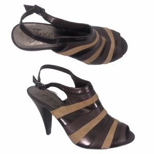 Fergie Jolt Striped High Heels